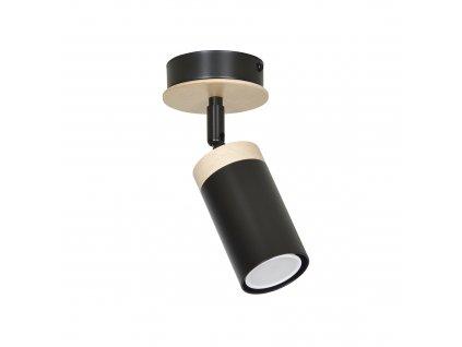 ELBA 1 moderné drevené stropné prisadené svietidlo čierne