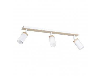 ELBA 3 moderné drevené stropné prisadené svietidlo biele 2