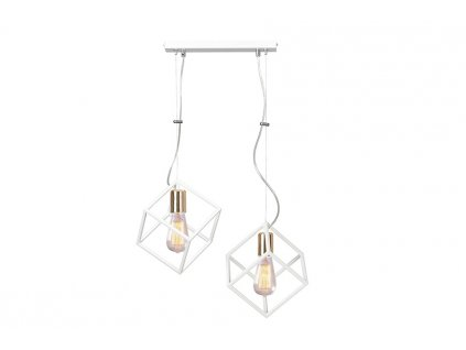 AMBITON 2 | dizajnová biela visiaca lampa