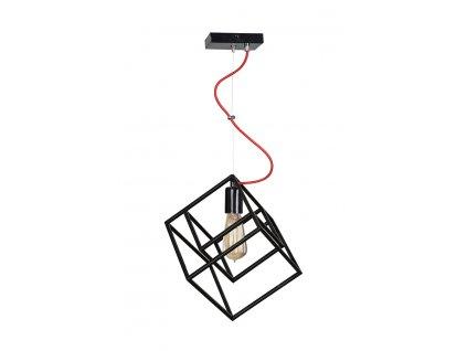 BOX | dizajnová industriálna čierna závesná lampa