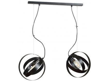 GALAXY 2 | moderná čierna visiaca lampa