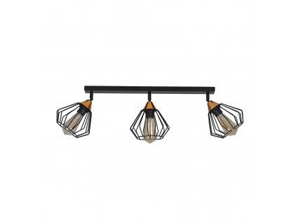 VESTA 3A | čierna moderná stropná lampa