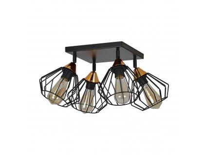 VESTA 4A | čierna dizajnová stropná lampa