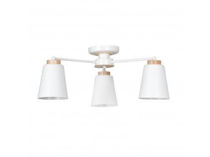PERIOT 3 | moderné prisadené biele stropné svietidlo