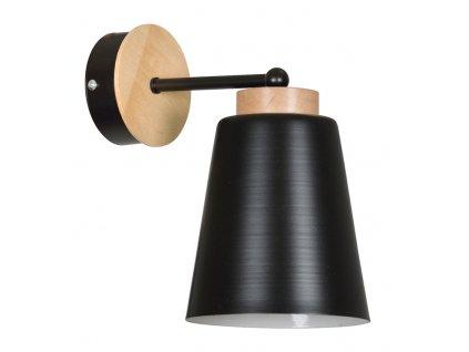 PERIOT K1 | moderná čierna nástenná lampa