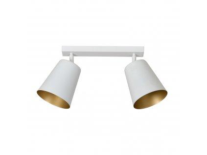 PRISM 2 | moderná stropná lampa-biela zlatá