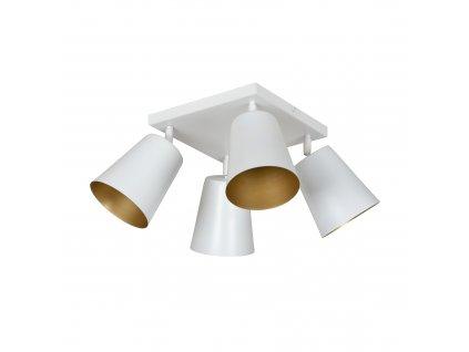 PRISM 4 | moderná stropná lampa-biela zlatá
