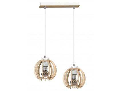 DILMA 2  | drevená visiaca lampa dvojitá