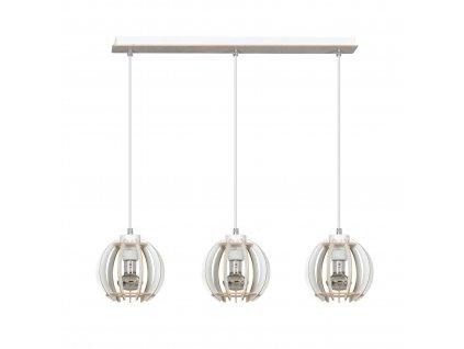 DILMA 3 | drevená visiaca lampa trojitá
