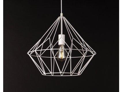 BELL II industriálna visiaca lampa biela