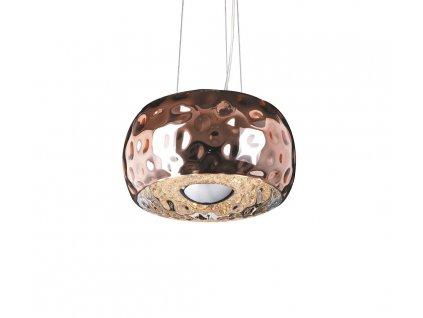 ENERGY väčšia luxusná visiaca lampa medena