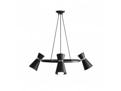 KEDAR | dizajnový čierny luster