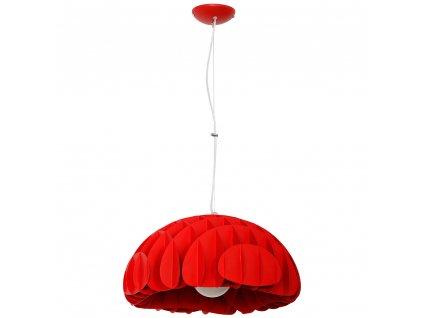 MAK | červená štýlová visiaca lampa