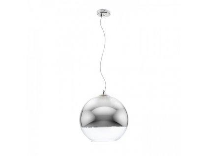 BEAU MONDE 35 | závesná lampa chrómované sklo/číre sklo