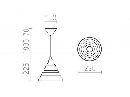 AMICI | závesná silikónová lampa