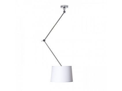 BROADWAY | stropná lampa s ramenom biela chróm