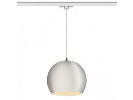 ASTON   lampa pre trojokruh. lištu česaný hliník