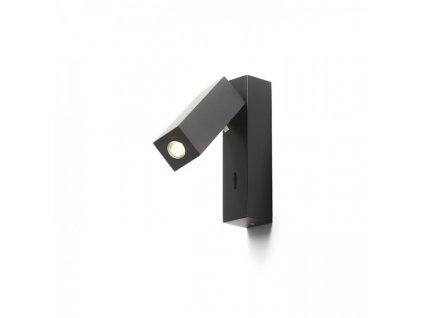 FADO | nástenná čierna lampa