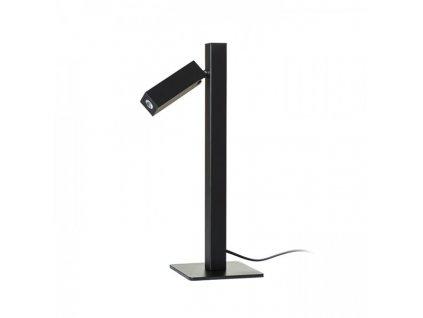FADO | stolná čierna hranatá lampa