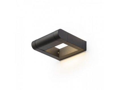 AQUE | nástenná matná čierna lampa IP54