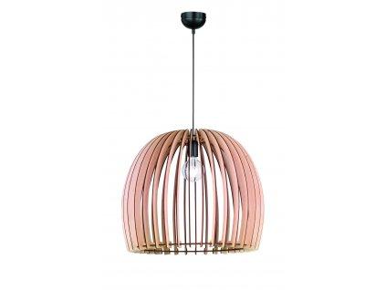 WOOD | závesná lampa s veľkým dreveným tienidlom