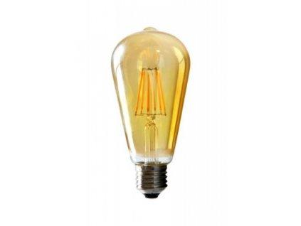 LED žiarovka E27 4W teplá biela filament amber ST64 ORO