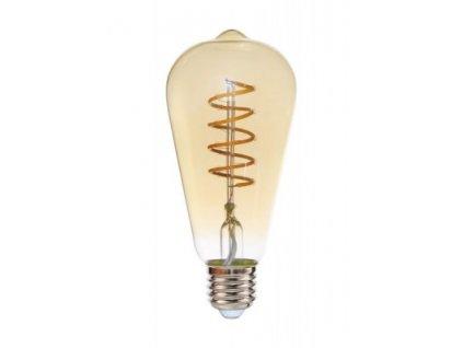 LED žiarovka E27 4W teplá biela filament amber ST64 GOLDIE