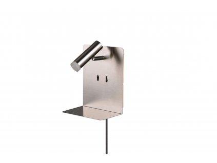 ELEMENT | kovová nástenná lampa s USB nabíjačkou