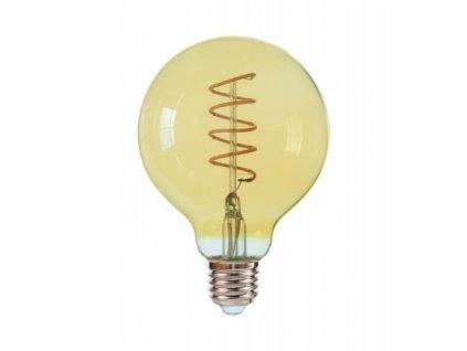 LED žiarovka E27 G95 6W teplá biela GOLDIE
