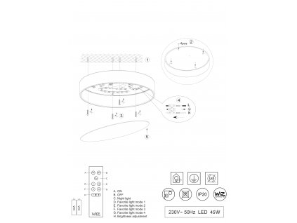 DIAMO | okrúhle stropné svietidlo s priemerom 75 cm