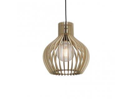 GROA 30 | závesné svietidlo s dreveným tienidlom