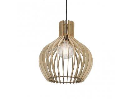 GROA 40   závesné svietidlo s dreveným tienidlom