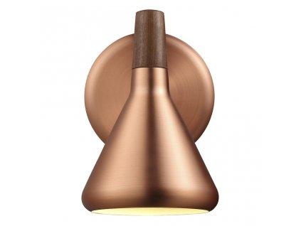 FLOAT | nástenné svietidlo z kovu a dreva