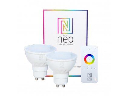 07006BD | Immax | IMMAX NEO | sada smart RGBW žiaroviek GU10 + ovládač