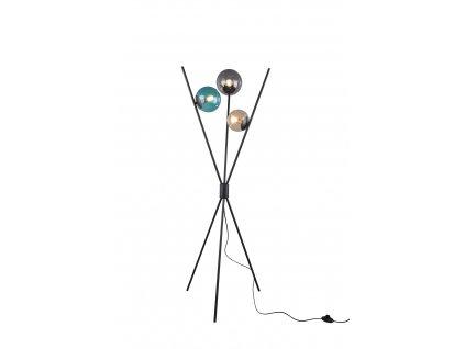 LANCE| Stojacie LED svietidlo z kovu a farebného skla