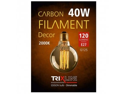 Žiarovka Carbon filament E27 G125