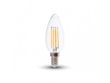 LED žiarovka E14 6W filament C37