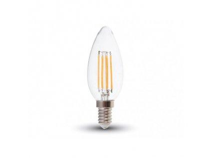 LED žiarovka E14 4W filament C35