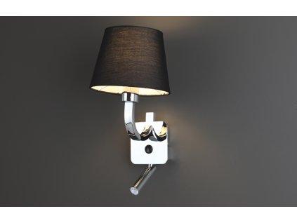 DENVER | luxusná nástenná lampa (Farba Čierna)