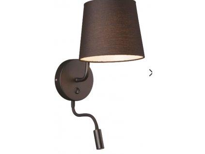CHICAGO | luxusná nástenná lampa + LED (Farba Biela/chróm)