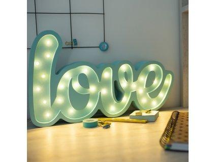 LOVE | detská lampička (Farba Ružová)