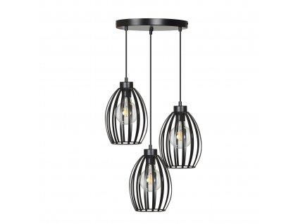 BORIS 3 Premium | dizajnová závesná lampa (Farba Čierna)