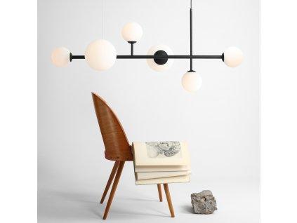 Aldex | 1039K30 | BALIA 6 | Elegantná závesná lampa so šiestimi tienidlami