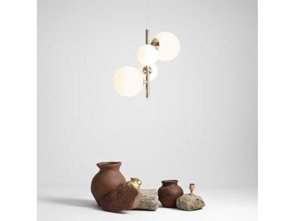 Aldex | 1039L30 | BALIA 4 | Elegantná závesná zvislá lampa so štyrmi tienidlami