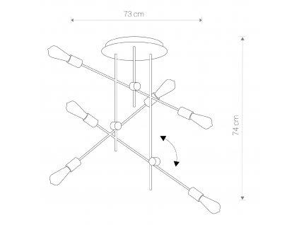 AXIS VI 9297 I Dizajnové stropné svietidlo