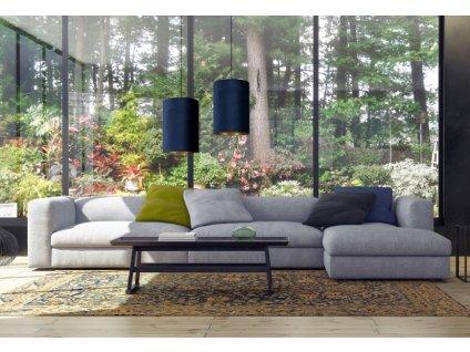 BARREL L BLUE 8446  | zamatové závesné svietidlo