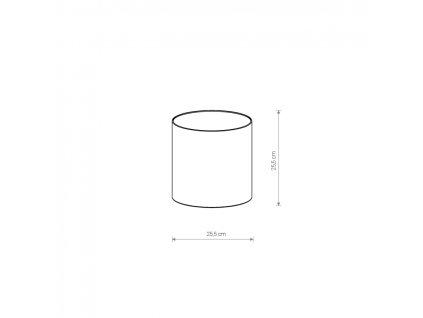 PETIT A BLUE/GOLD 8344 | zamatové tienidlo