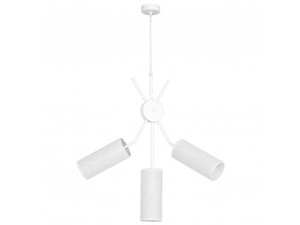 Závesné moderné biele svietidlo