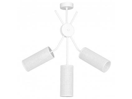 Prisadené stropné biele moderné svietidlo