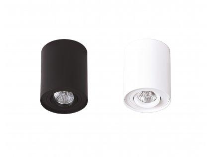 Maxlight Basic Round - Valcová prisadená bodovka biela a čierna Maxlight Basic Round